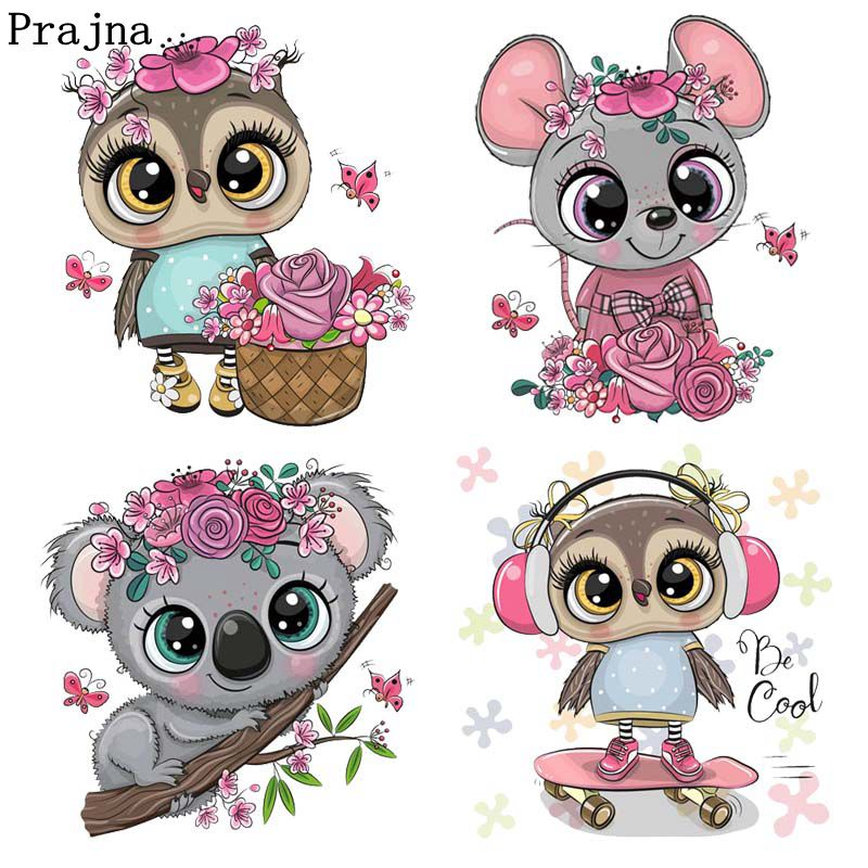 Prajna Lovely Koala Iron On Heat Transfers Vinyl Thermal Heat Transfer Cartoon Patches For Clothing DIY Stickers On Baby Clothes