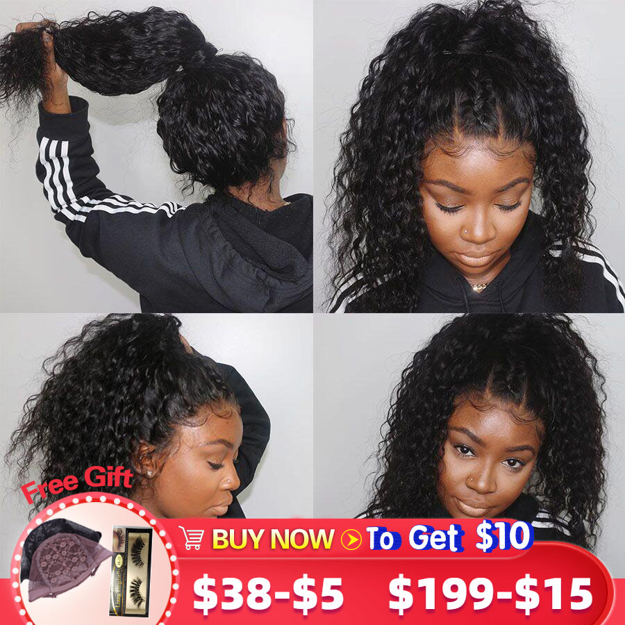 Glueless 360 Lace Frontal Wig Brazilian Curly Human Hair Wig Pre Plucked With Baby Hair For Black Women Gossip Remy Hair Wigs