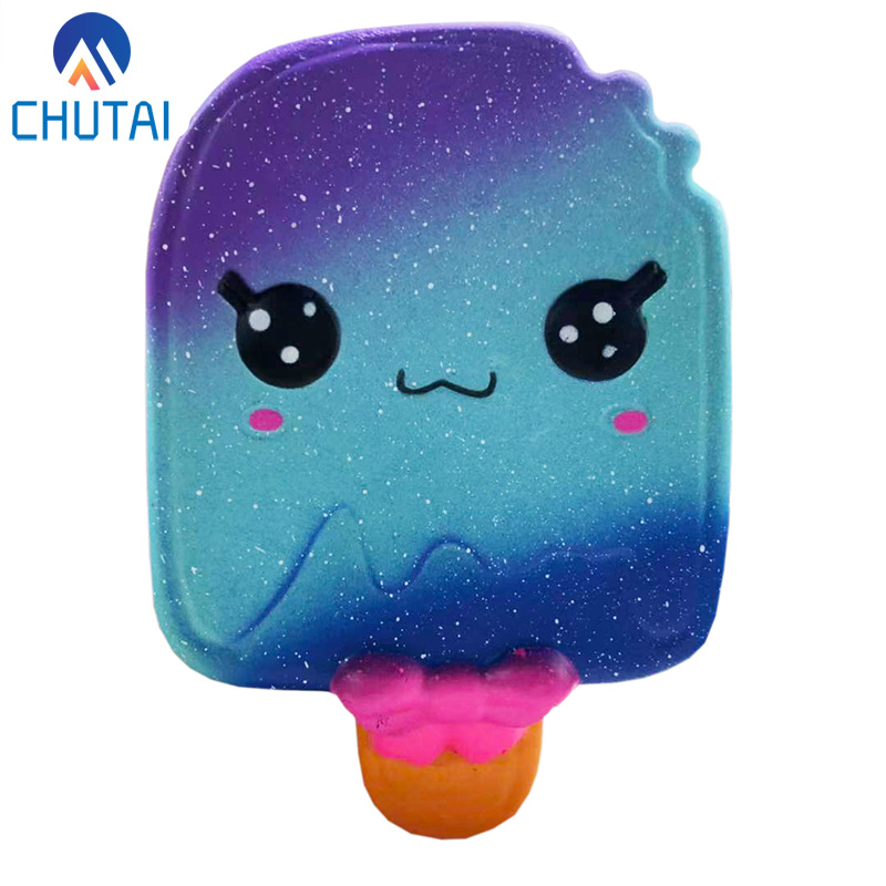 New Galaxy Ice Cream Squishy Slow Rising Cute Jumbo Strap Soft Squeeze Scented Bread Cake Toy Gift Kid Fun 14*9CM
