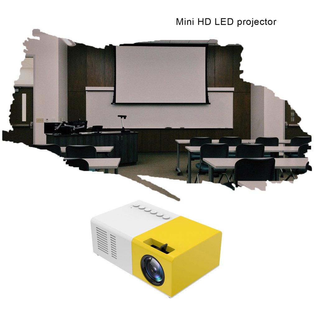 J9 portátil mini projetor 1080p mini casa projetor av usb sd tf cartão usb portátil bolso beamer com telefone pk yg300-4