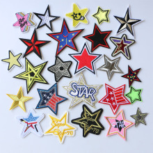 3D Openwork Stars colorful stars icon Embroidered Iron on Patch for Clothing DIY Strip