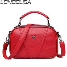 V Letter Women's Vintage Soft Leather Small Tote Bag Design Ladies Crossbody
