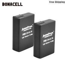 Bonacell 1500 Mah EN-EL14 EN-EL14a ENEL14 EL14 Batterij Voor Nikon P7800, P7700, P7100, P7000, D5500, d5300, D5200, D3200, D3300, D5100 L50