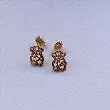 bear earring trendy earrings stainless steel jewelry earring gift for best girl party jewel top high