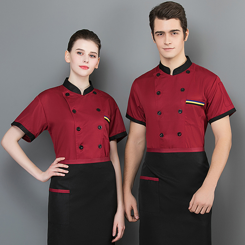 Male Chef's Jacket Food Service Restaurant Uniform Kitchen Bakery Hotel Unisex Shirts  Cooking Clothes Wholesale