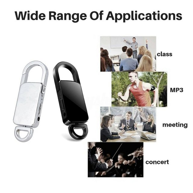 90 Hours Keychain Portable High-definition Digital Small Player 5