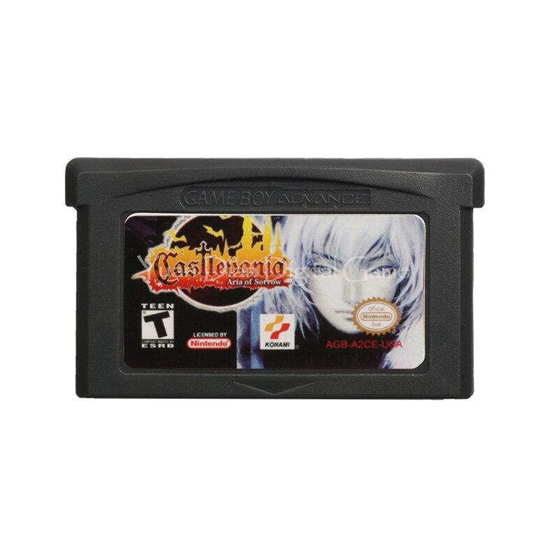 For Nintendo GBA Video Game Cartridge Console Card Castlevania Aria Of Sorrow English Language US Version