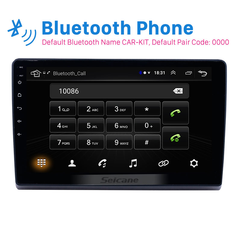 Seicane 10.1 inch 2din Android 8.1 car Radio <font><b>GPS</b></font> Multimedia player for 2009 2010 2011-2019 <font><b>Ford</b></font> New <font><b>Transit</b></font> support Carplay SWC image