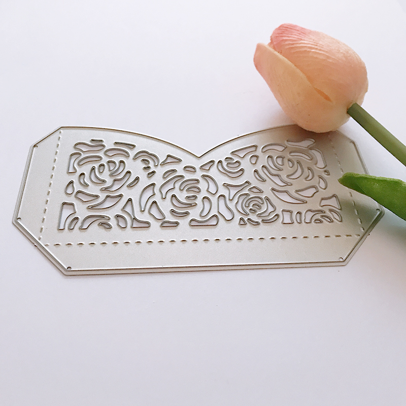 1 pc Lace Flowers Metal Cutting Dies Scrapbooking New 2018 Pocket Wedding Crafts Die Cuts For paper Cards making Decorations in Cutting Dies from Home Garden