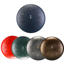 Steel Tongue Drum 10 Inch 11 Note Hand Pan Drum F Key Pad Tank Stick Carrying Bag Percussion Instruments Accessories Tongue Drum