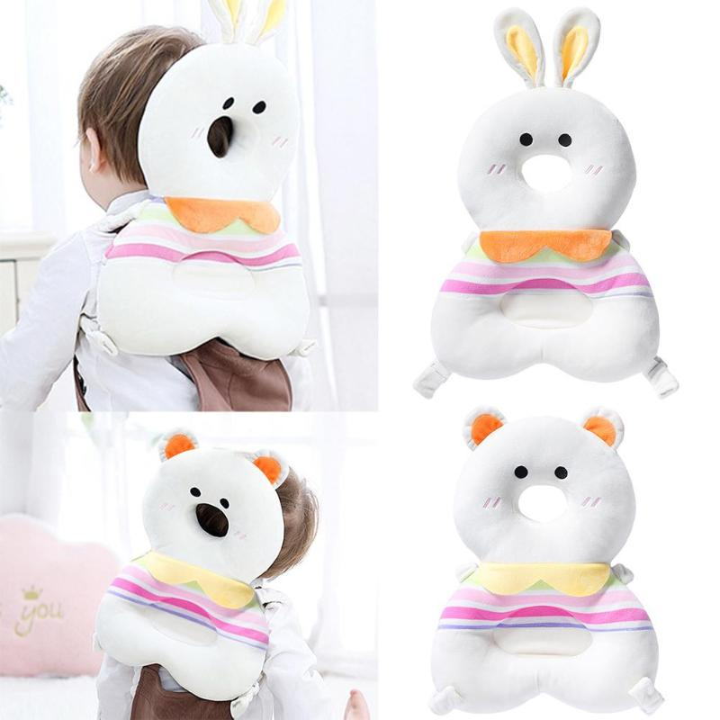 2 In 1 Cartoon Toddler Headrest Pillow Drop Resistance Mat Crystal Velvet Comfortable Not Easily Deformed Baby Head Protection