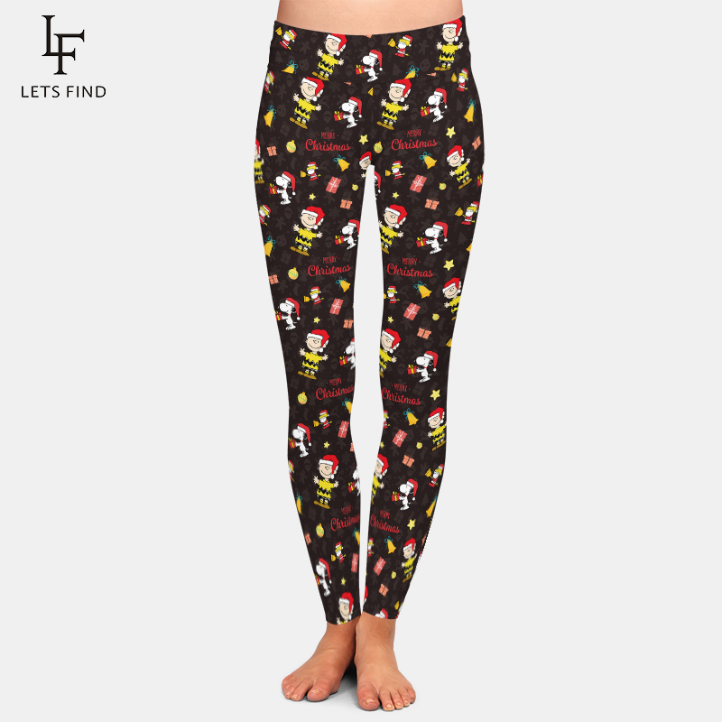 New Charlie brown Christmas Leggings Women Fashion High Waist Quality Plus Size Winter Comfortable Legging 1