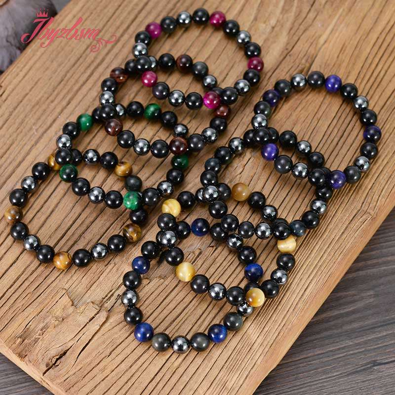 Polaris necklace colorful hematite necklace vine bow bead necklace for women Geometric beads chain colorful hematite cube chain women gift