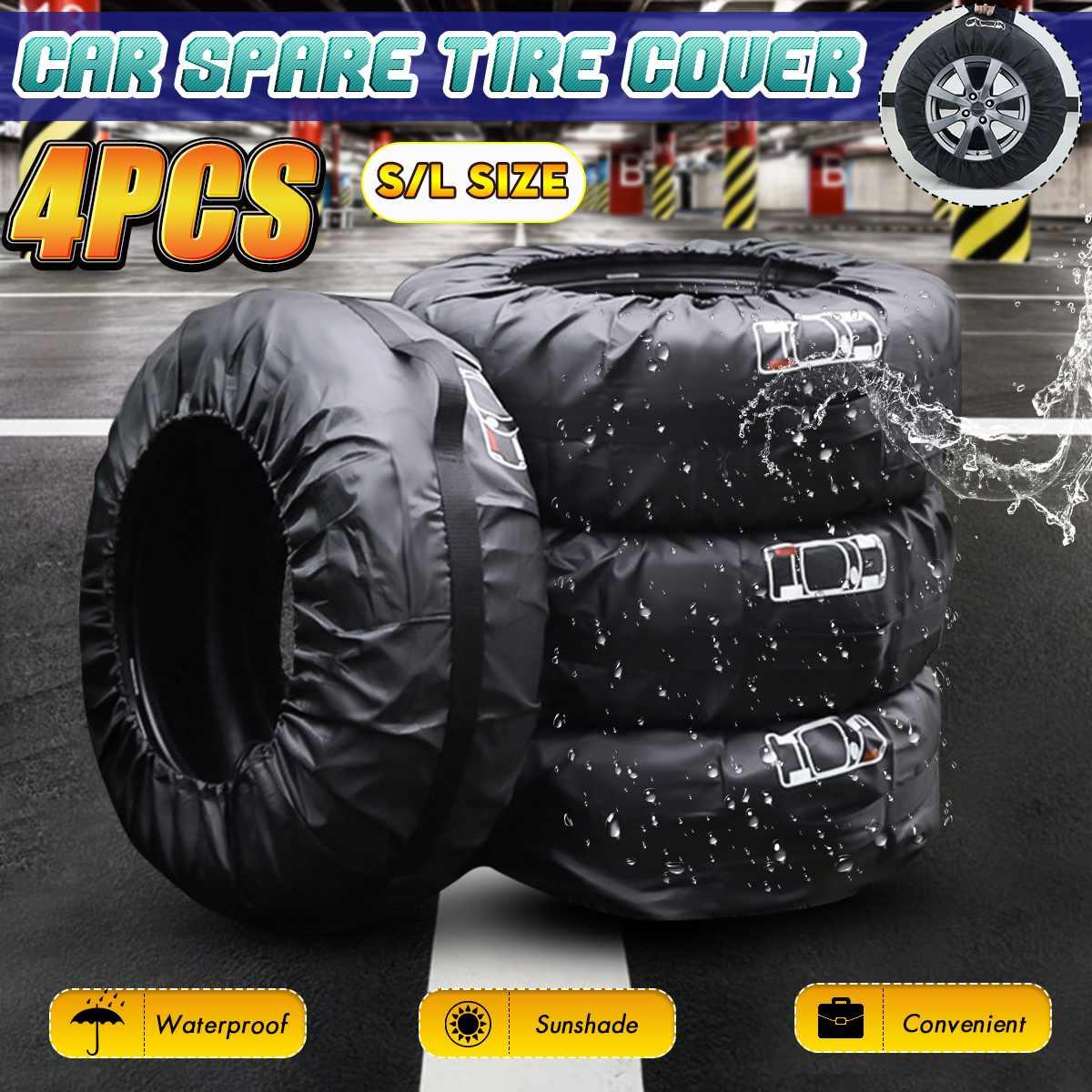 Универсальный 4 шт запасной чехол для шин, полиэстер, автомобильная сумка для хранения шин, авто покрышки, защита для колес, водонепроницаемый|Принадлежности для шин|   | АлиЭкспресс
