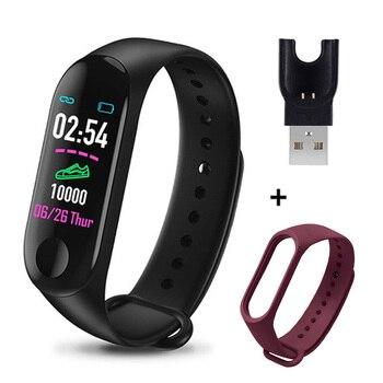 M3 Plus Smart Bracelet Heart Rate Blood Pressure Health Waterproof Smart Watch M3 Pro Bluetooth Watch Wristband Fitness Tracker 8
