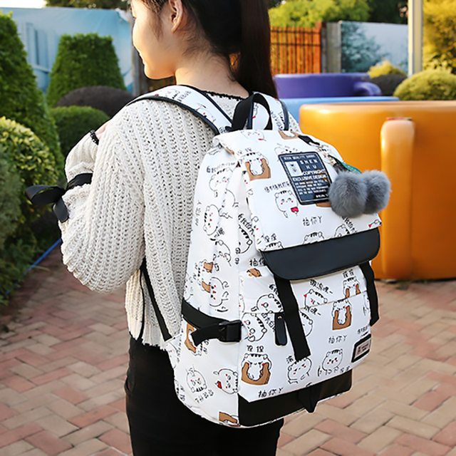 Fashion Female Backpack High Capacity Women Backpack Pattern School Laptop Backpack Teen Girl School Bag