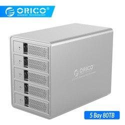 ORICO 5 خليج 3.5 بوصة USB3.0 SATA قاعدة تركيب الأقراص الصلبة مع 150 واط السلطة القرص الصلب الضميمة SSD HDD الحال بالنسبة قرص صلب كمبيوتر محمول