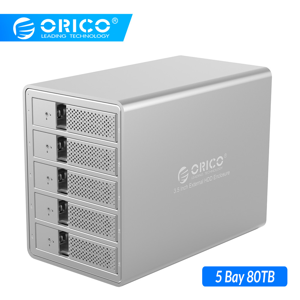 ORICO 5 Bay 3.5 Inch USB3.0 SATA HDD Docking Station With 150W Power Hard Drive Enclosure SSD HDD Case For Hard Disk Laptop PC