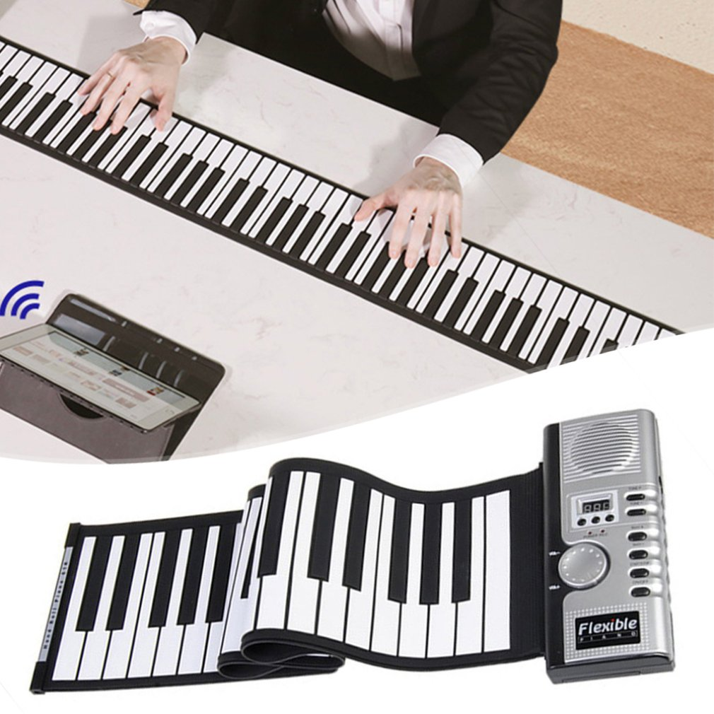 HOT Sale Flexible Roll Up Electronic Soft Keyboard Piano Portable 61 Keys Free Return