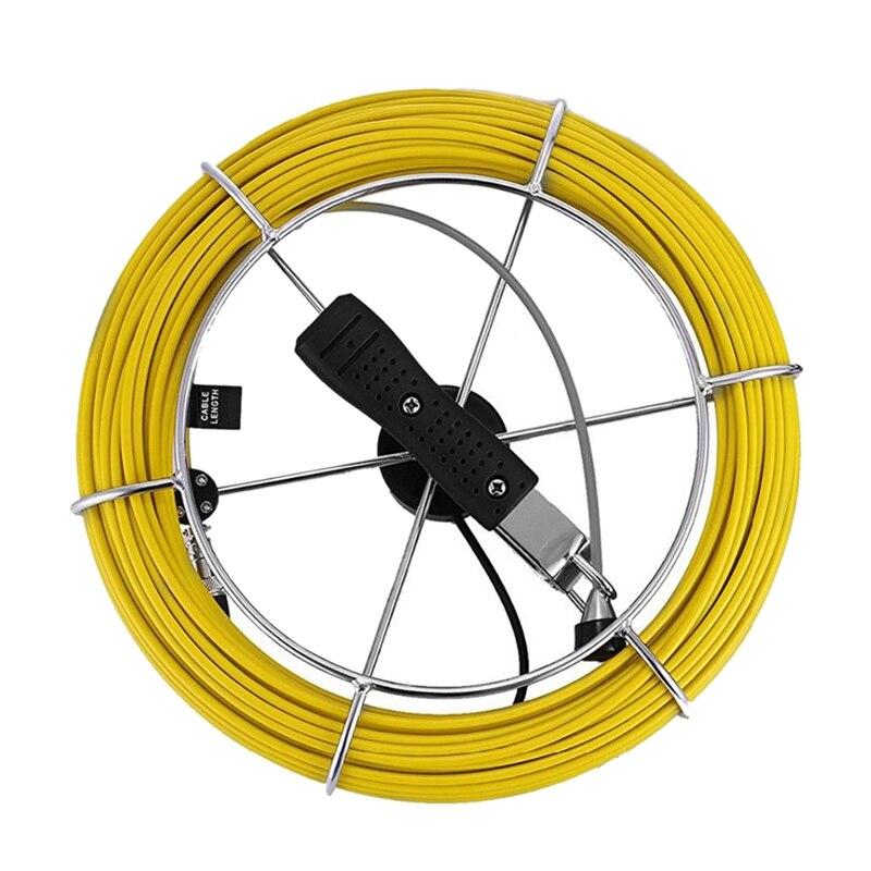 Câble de caméra d'inspection d'égout de tuyau de 20M câble d'endoscope industriel de Drain Ip68 câble de caméra de serpent vidéo