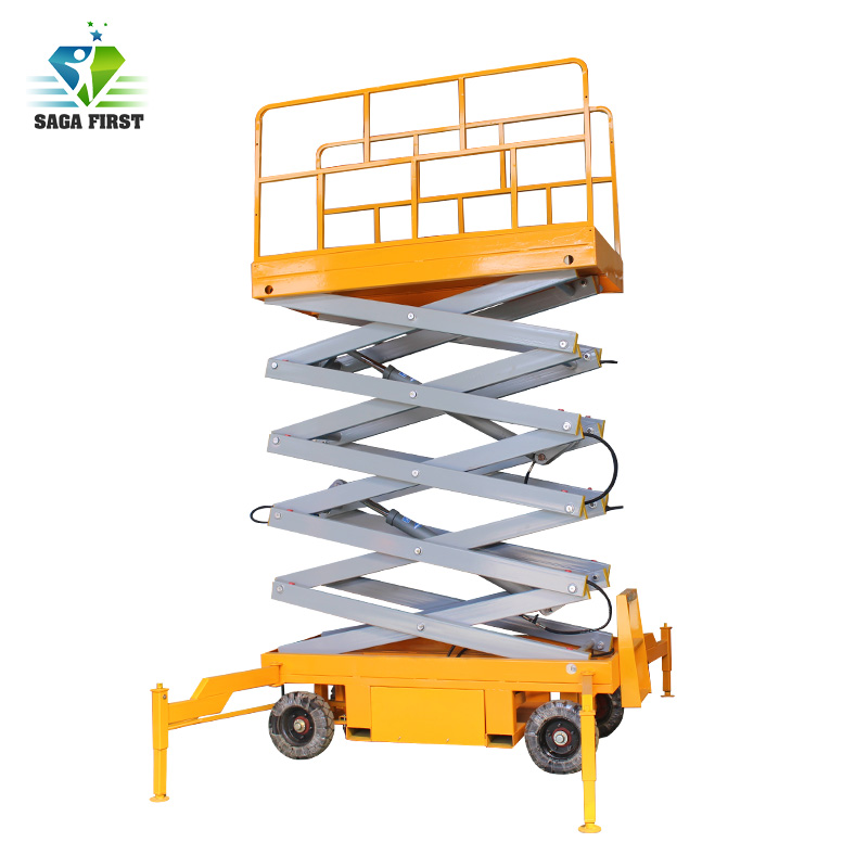 Mobile Electric Hydraulic Scissor Lift Table With CE Very Cheap Good Quality Factory Use