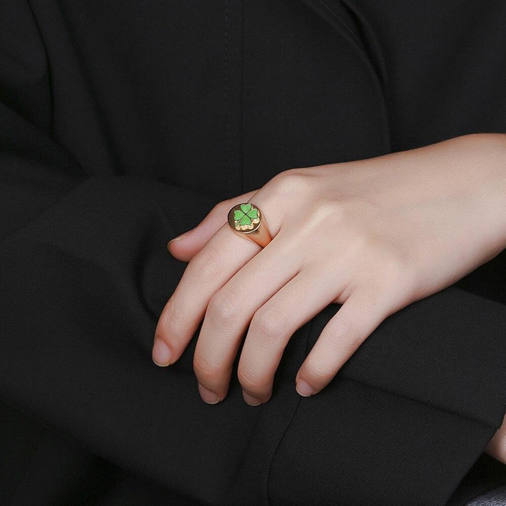 S925 pur argent plaqué 14K simple or fleurs anneau, tempérament simple, polyvalent dame anneaux livraison gratuite amour ins