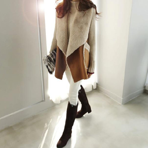 Image 5 - TWOTWINSTYLE Korean Lamb Wool Vest Coats Female Sleeveless Lapel Collar Casual Coat For Women Plus Thick 2019 Winter Fashion