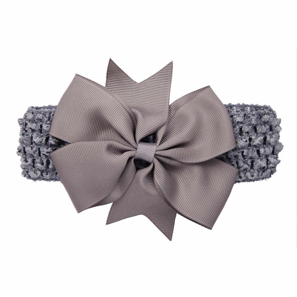 สาวคลื่น Headbands ผ้าฝ้าย Bowknot อุปกรณ์เสริมผมเด็กผมวงผ้าพันคออุปกรณ์เสริมมงกุฎสาว Pince cheveux ดอกไม้ Headwear