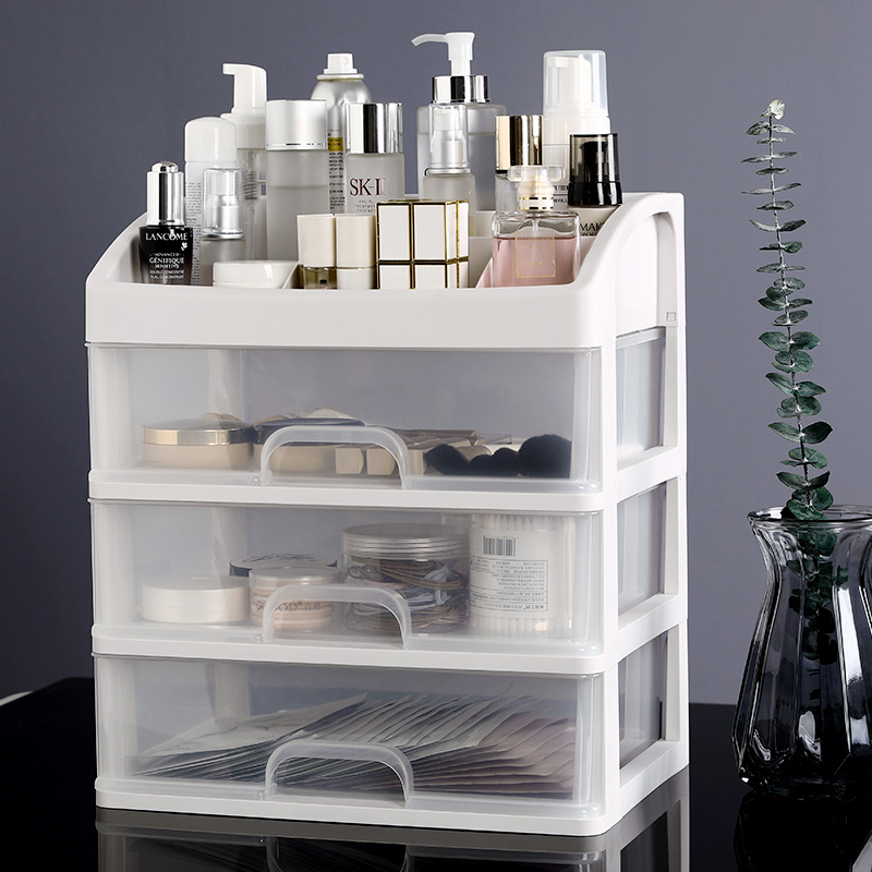 Makeup Organizer Drawers Plastic Cosmetic Storage Box Jewelry Container  Makeup Brush Holder Desktop Sundry Storage Case Storage Boxes & Bins     - title=