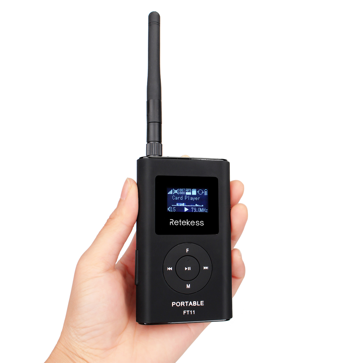 RETEKESS FT11 Portable FM Transmitter Handheld MP3 Broadcast Radio Transmitter for <font><b>Car</b></font> Meeting Tour <font><b>Guide</b></font> Teaching Camping image
