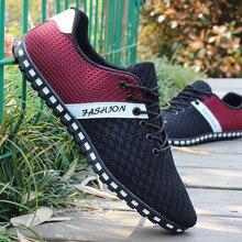 גברים של נעליים נקי נעלי נעליים יומיומיות גברים של נטו נעלי קיץ נעליים אחת רך תחתון נעלי נהיגה לנשימה ספורט נעליים 39 46