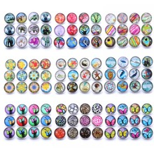 Wholesale 10pcs/lot New Snap Jewelry Mixed Elephant 18mm Glass Snap Buttons Fit Silver Leather Snap Button Bracelet Jewelry 20pcs 50pcs lot kcd4 31 25mm 4pin 16a 250v snap in dpst on off position snap boat rocker switch copper feet