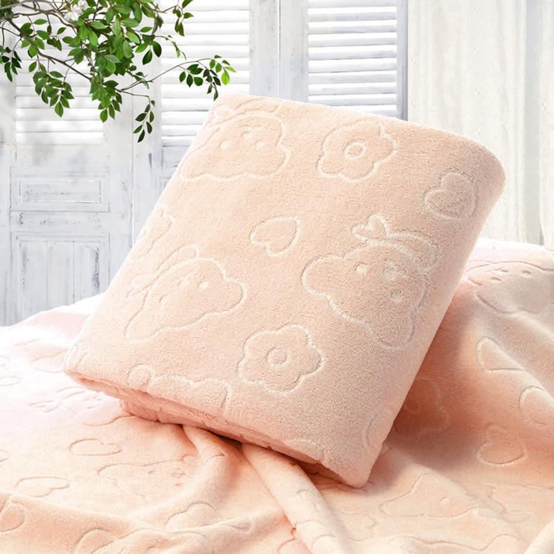 70X140CM Microfiber Quick-dry Towel Bear Cartoon Bath Towels Cotton SOFT Dry Towels Kitchen Clean Absorbent Towels Color