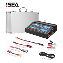 HTRC Professionele RC Battery Balance Charger 4B6AC Quattro B6AC 6A 80W * 4 Ontlader Voor 1 6s liPo/Leeuw/Leven Batterij Oplader