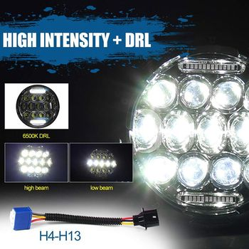 2pcs 75W 7'' Led Headlight H4 High Low Beam Round Cars Running Lights Waterproof Car Lights Car Accessories