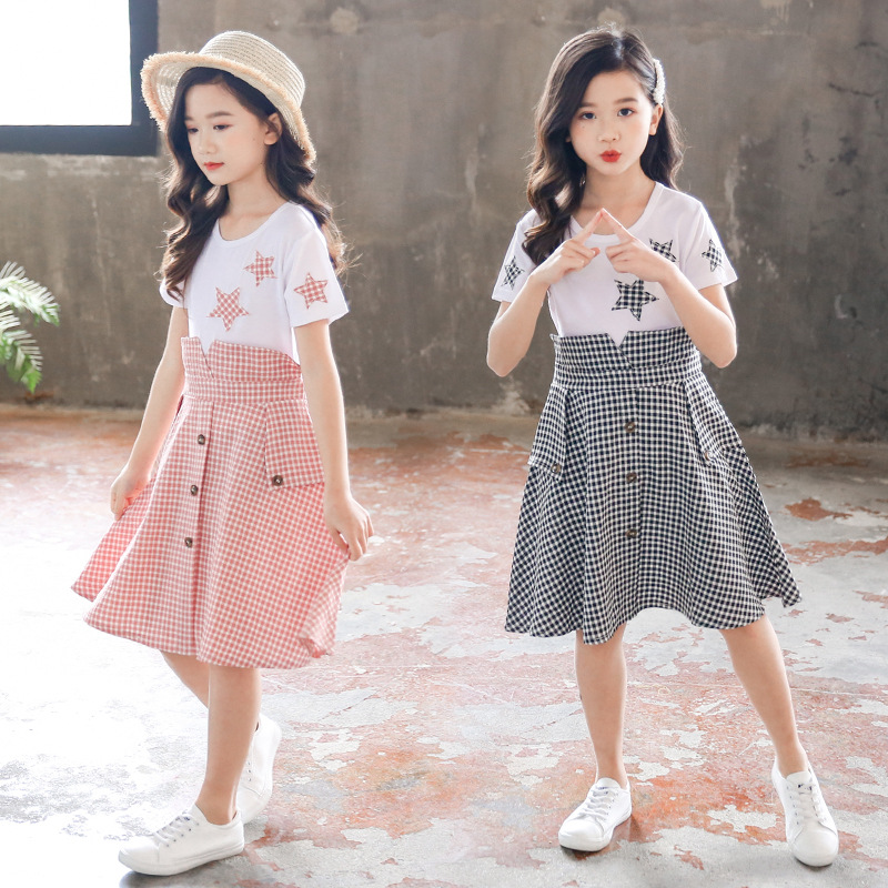 Kids <font><b>Summer</b></font> <font><b>Dress</b></font> 2020 New <font><b>Girls</b></font> Princess <font><b>Dresses</b></font> Children Plaid Clothes <font><b>For</b></font> <font><b>Girls</b></font> 4 5 6 7 8 9 10 11 <font><b>12</b></font> <font><b>Years</b></font> <font><b>Old</b></font> image
