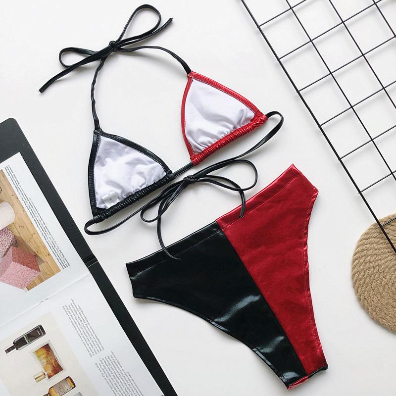 INGAGA, перекрестный бандаж, бикини, набор, сексуальный, открытая, купальник, женский, Леопардовый, пуш-ап, купальник для женщин, 2020, бантик, бики... 60