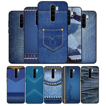 Jeans Style Blue Denim Phone Case For Xiaomi Redmi note 9 8 7 6 5 4 Pro S for redmi 4A 4X 5 Plus 5A 7A Cover(China)