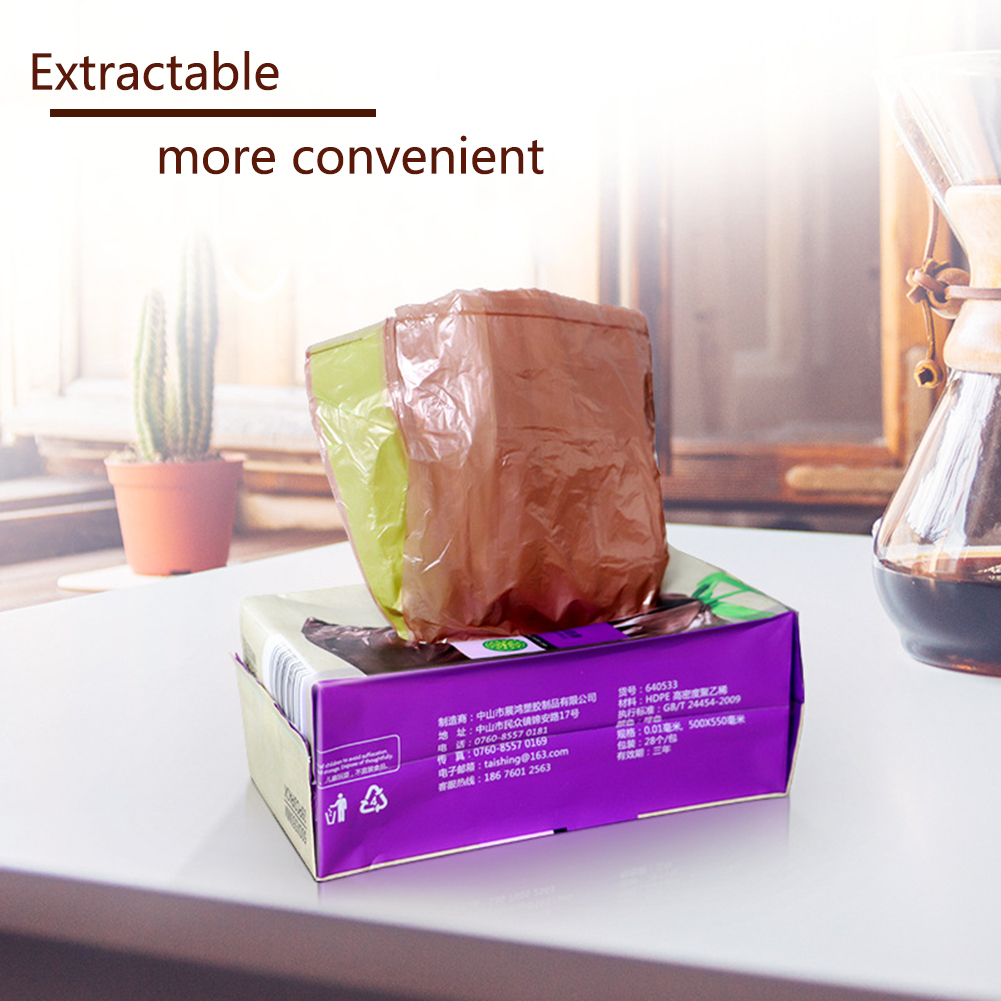 40pcs Hotel Kitchen Garbage Trash Plastic Bag Environmentally Degradable Biodegradable Load-Bearing With Drawstring For Home