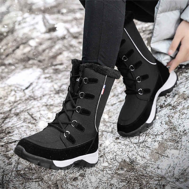 Kadın kışlık botlar kadın kış yüksek botas mujer kadın kar botları kış kadın botları su geçirmez yarım çizmeler çizmeler ayakkabı