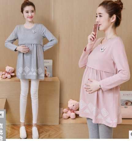 2020 mães gravidez roupas para grávidas de enfermagem topos para mulheres grávidas amamentação hoodies camisola de maternidade topos primavera outono