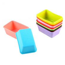 New Bakeware Kitchen Mini Trumpet Rectangular Non-stick Toasted Bread Soap Silicone Decorating Mold For Chocolate Baking Tools