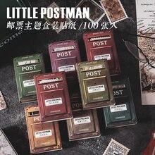 100 pçs/lote kawaii papelaria adesivos pós diário planejador decorativo móvel adesivo scrapbooking diy artesanato adesivo