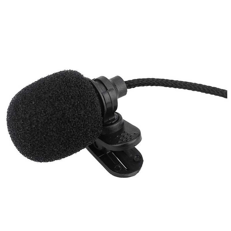 Mini portátil con Clip-En solapa manos libres de 3,5mm Jack condensador miniphone macho micrófono para ordenador PC y portátil altavoz