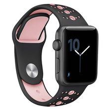 Ремешок силиконовый пористый для apple iwatch 1/2/3/4/ мягкий