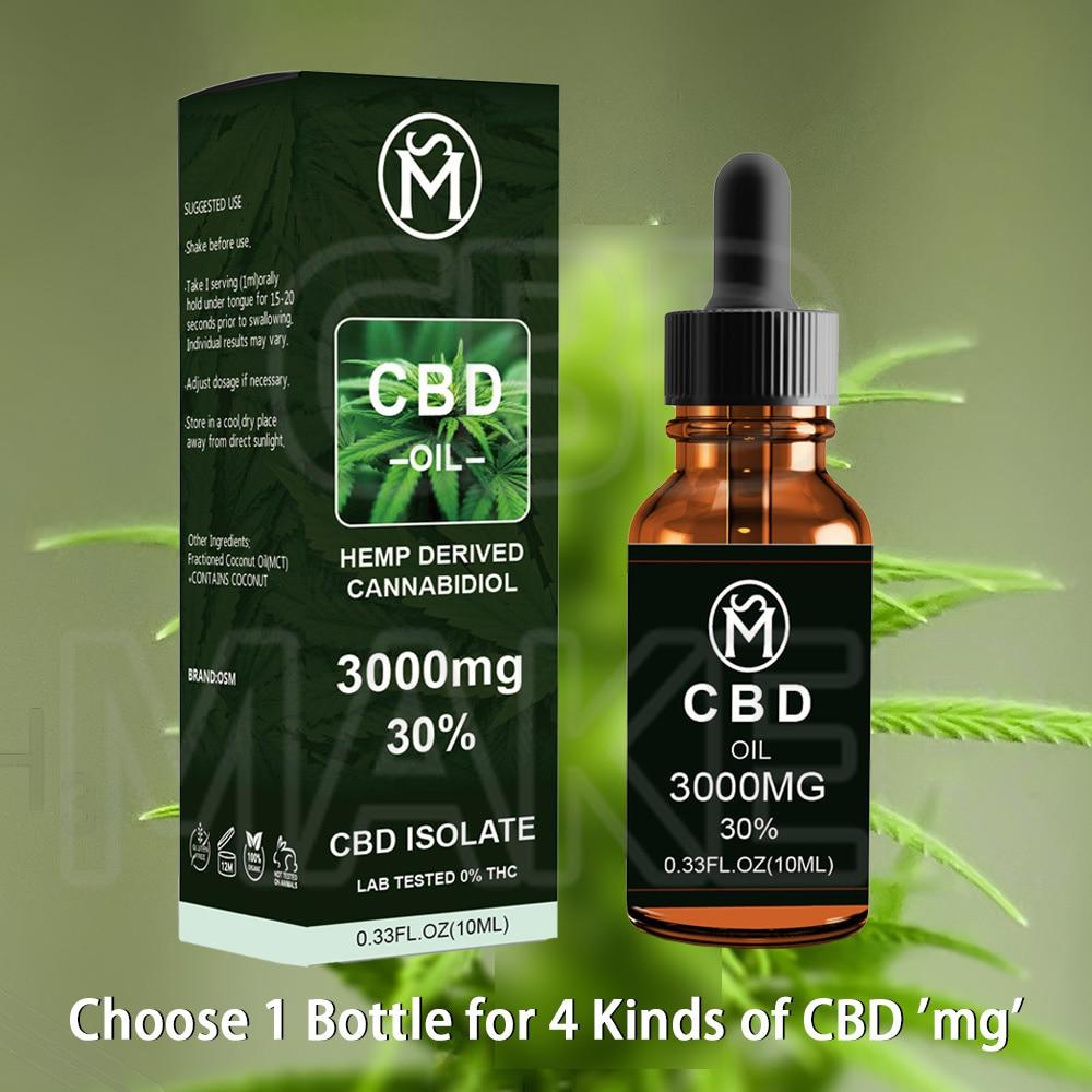 OSM Premium CBDs ekstrakt z olejku konopnego z naturalne konopie 500-3000mg silna czystość CBD wewnątrz dla łagodzenia bólu i bezsenności