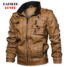 2020 Jackets Men Slim Fit Casual Outwear Bomber Jacket Mens Winderbreaker Motorcycle Leather Jackets male new fur biker outcoat