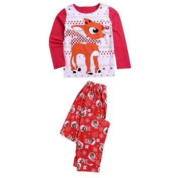 Świąteczne ubrania rodzinne dla mamy i córki zestaw moda dla dorosłych mężczyzn tata piżamy zestaw bawełniana bielizna nocna bielizna nocna czerwone piżamy pasujące rodzinne stroje tanie i dobre opinie ISHOWTIENDA CN (pochodzenie) COTTON POLIESTER Pełne REGULAR Elastyczny pas W stylu rysunkowym Z okrągłym kołnierzykiem