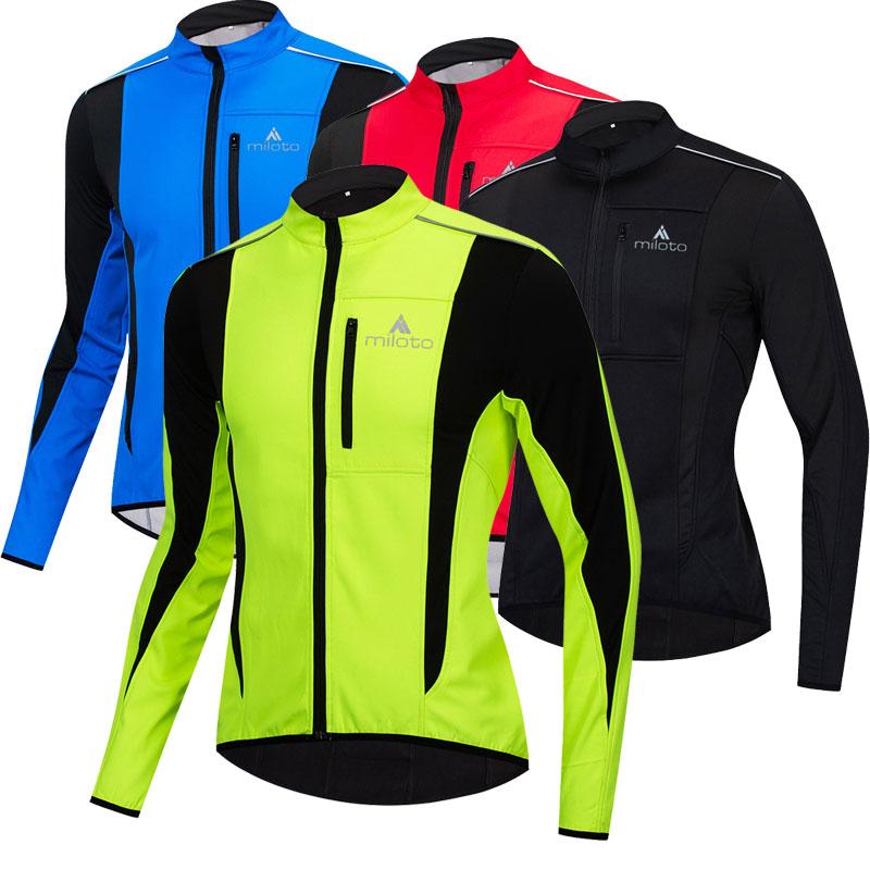 Зимняя куртка для велоспорта, ветронепроницаемая Водонепроницаемая теплая ветровка, спортивная куртка для бега, рыбалки, велоспорта, Мужск