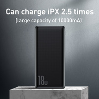 Baseus 18W Power Bank 10000mAh Quick Charge 3.0 Portable External Phone Charger with PD Two-way Fast Charging Powerbank